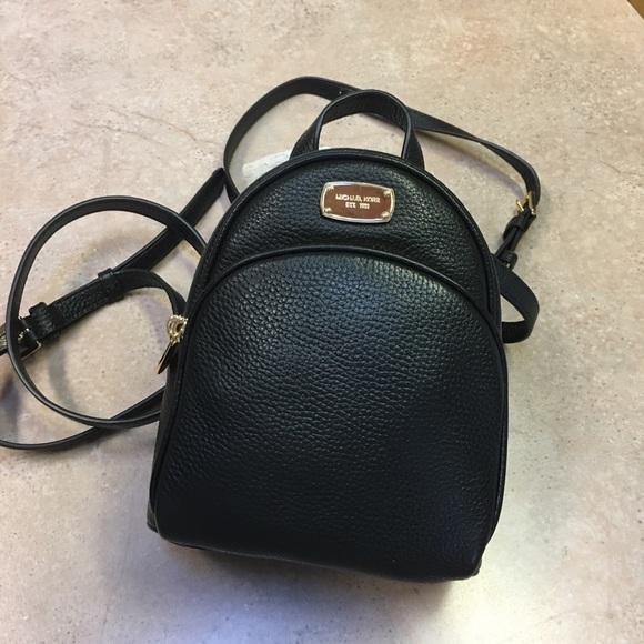 c3d151efde69 NWT MK Michael Kors XS Abbey Black Backpack
